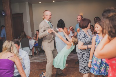 Wedding Newlyweds Dancing Family Valley DJ Service Southwicks Zoo Galliford's Restaurant